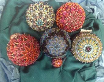 "Beaded Ornaments - 6"""