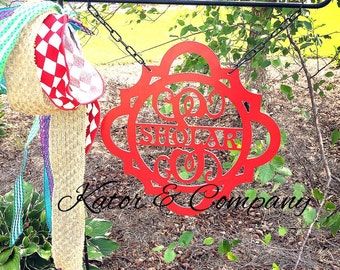 Items Similar To Personalized Metal Garden Flag Faux