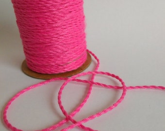 COTTON TWINE Decorative Rope String 10 Meters, Floral Supplies, Pink Craft Rope