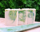 Aloe Cucumber Soap - All Natural Handmade Soap Bar with Cocoa Butter & Sweet Almond Nut Oil. Natural Skincare. Bar Soap. Gifts for her.