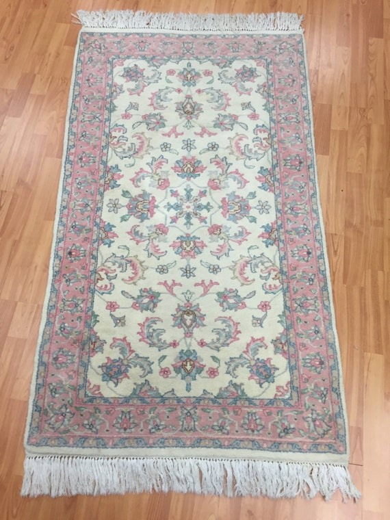 3' x 5' Indian Kashan Oriental Rug - Perfect Condition - Hand Made - 100% Wool