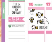Munchkins - Cheers! Time for Beer! Planner Stickers (M155)