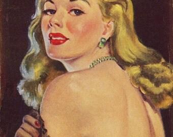 pulp art print Flesh Pots —  vintage pulp paperback cover repro