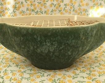 New Devon Green Art Deco Style Vase Flower Frog
