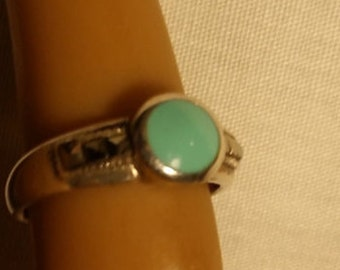 Blue Stone ring 925