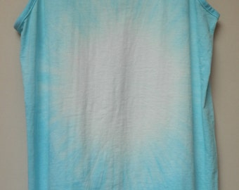 Tie Dye acid wash vest top sleeveless T shirt hipster festival grunge Retro punk galaxy 80s 90s indie dip dye indie skate rave tank top