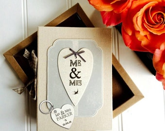 Personalised Mr And Mrs Vintage Photo Album In Gift Box