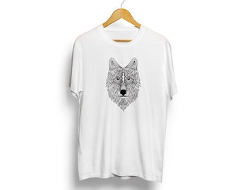 Wolf shirt - American wolf Tshirt - Graphic tee with wolf image - Woodland animal shirt for men and women - Gift for him - Wolf head shirt