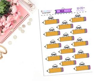Beedoo Pencils BD-018   14 Planner Stickers