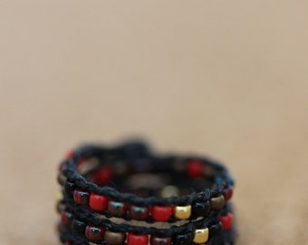 A-Line/M-Line Minifee Wrap Bracelet (Hellstone Jumble)