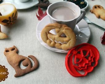 Pumpkin cookie cutter for Halloween - Halloween cookie cutter with the shape of a pumpkin - pumpkin cookie cutter for trick or treat