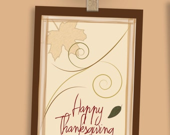 Happy Thanksgiving PRINTABLE card