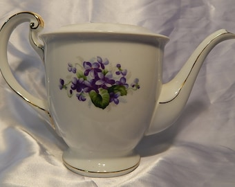 Pitcher with Beautiful Forget-Me-Not Flowers UCAGCO Made in Japan.