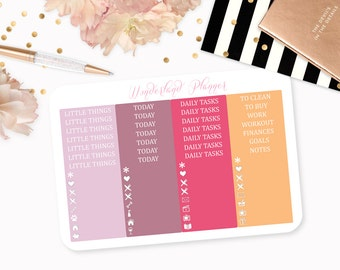Woodland Friends - Floral Fall Themed Planner Stickers // Headers + Icons // Perfect for Erin Condren Vertical Life Planner