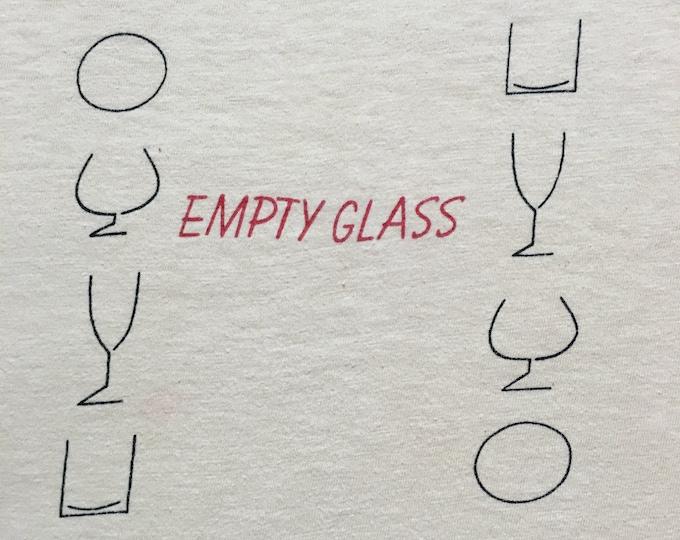 Rare 1980 Pete Townshend Empty Glass Promo T-shirt