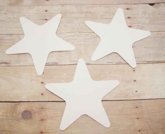 Cardstock Star Cutouts-Starfish Shapes-White Star Cutouts