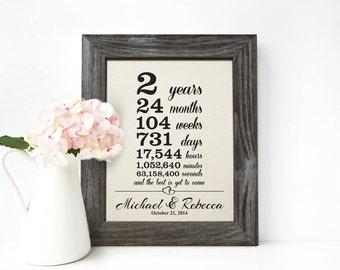 Cotton Anniversary Gift, 2nd wedding anniversary gift, 2 year together gift - CA0106