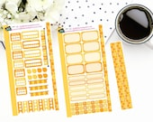 Personal Planner Weekly Sticker Kit| Planner Stickers| Honeycomb Bee| P007