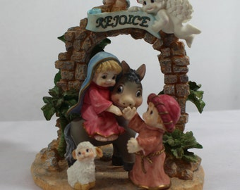 Vintage Dreamsicles Nativity Rejoice, Christian Christmas Decoration