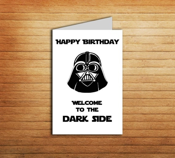 Refreshing image within printable star wars birthday card