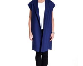 """Wool waistcoat """"Blue is Not Blue"""""""