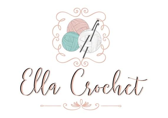 Knitting Logo Ideas : Custom logo design crochet yarn sew knitting