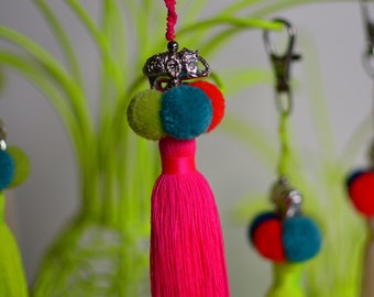 Colourful Tassle key rings