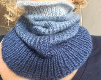 "Neck warmer ""Shadows"" cashmere, merino wool and alpaca"
