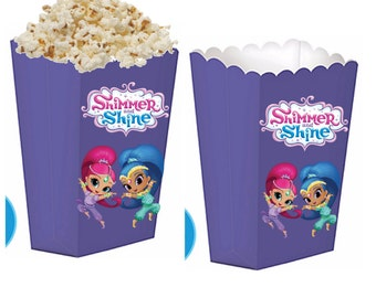 Shimmer and shine treat boxes