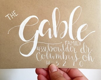 Wedding Envelope Calligraphy Handwritten - Oversized