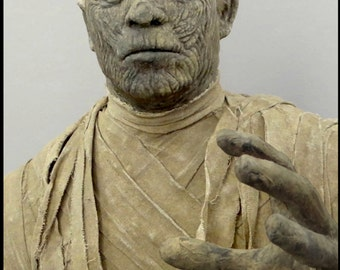 The Mummy Statue, Lon Chaney Jr, Universal Monsters, Life Size Statue