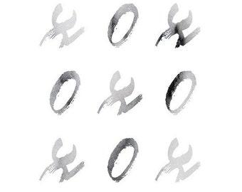 XO Typography Print