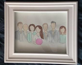 Family Portrait 8 x 11 (3+people)
