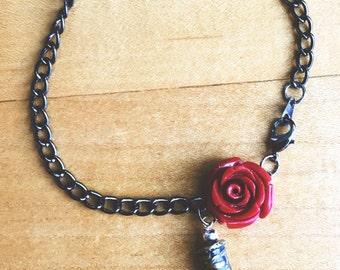 Etched Rose Layering Bracelet