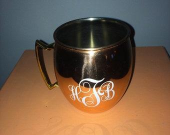 Monogram Copper Mug