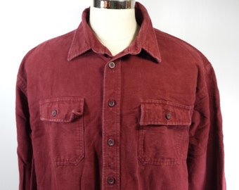 Vintage LL Bean Men's Red Flannel Shirt EUC! Size XL