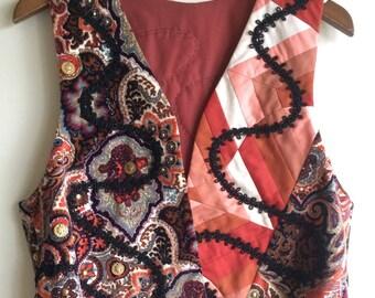 Women's vintage handmade vest