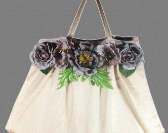 Bag mesh gray Peony
