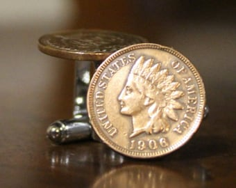 Indian Head Pennies Cuff Links Penny Cufflinks