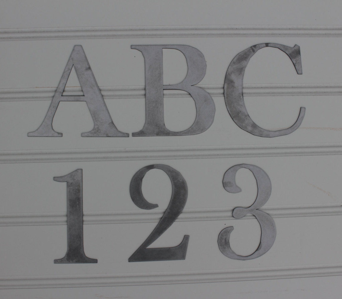 Individual Metal Letters Metal Letters Individual Letters And Numbers