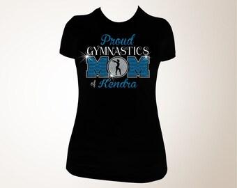 Proud Gymnastics Mom T-shirt, Gymnastics Mom Bling Shirt, Gymnastics Mom Shirts, Proud Gymnastics Mom, Gymnastics Shirt, Gymnastics T-shirt