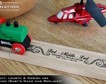 Personalized train etsy personalized train track for your train set this wooden toy makes the perfect keepsake gift negle Gallery