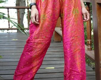 peacock harem pants hippie pants hobo pants pink