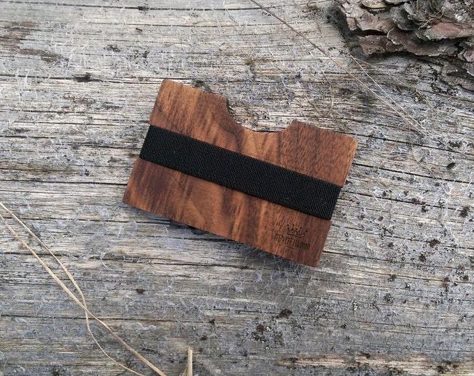 Walnut Handmade Wood Wallet / Slim wooden wallet / credit card wallet / slim GenteelWood wallet / Minimalistic wallet / Valentines gift