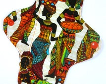 "Tribal Colors Cloth Pads - Customizable - 8"", 10"", Panty Liner, Thong Liner, Regular Flow"