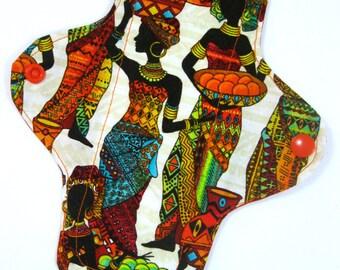 Tribal Colors Cloth Pad, custom cloth pad, reusable cloth pad