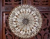 """6.5"""" Lotus Mandala Wall Hanging - Spiritual Wall Art, Wood Mandala, Sacred Geometry Art, Bohemian Wall Art, Mandala Wall Art"""