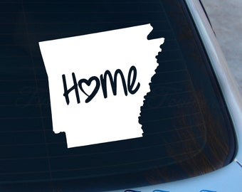 Arkansas Decal - State Decal - Home Decal - AR Sticker - Love - Laptop - Macbook - Car Decal
