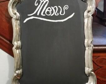 Silver Platter Menu Chalkboard