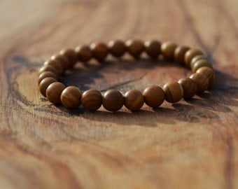 Wooden Jasper - 6mm Semi Precious Stone Bracelet